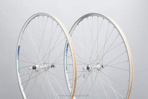 Campagnolo 50th Anniversary / Ambrosio 19 Extra Aerodynamic c.1983 Vintage 700c Clincher Road Wheels - Pedal Pedlar - Bicycle Wheels For Sale