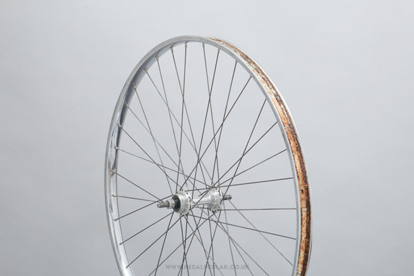Atom Turister / Rigida Chromage Superchromix c.1970 Vintage 650B Clincher Randonneur Rear Wheel - Pedal Pedlar - Bicycle Wheel For Sale