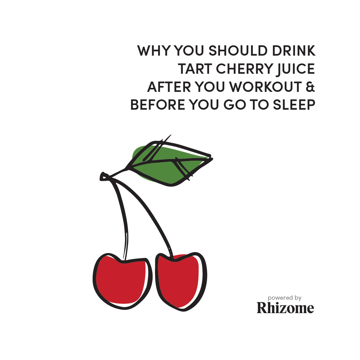 Why You Should Drink Tart Cherry Juice After You Workout And Before You Go To Sleep