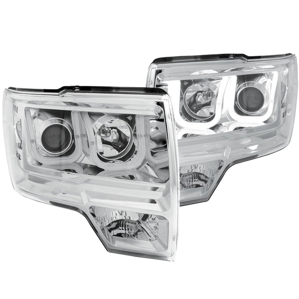 Anzo 2009-2014 F150 Chrome Projector Headlight Set - 111264