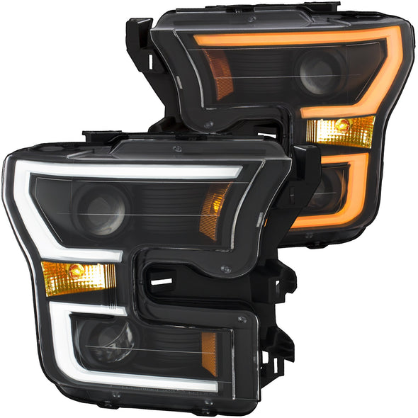 Anzo 2015-2017 F150 Projector with Plank Style Switchback Headlight Set - 111357
