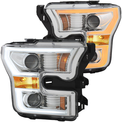 Anzo 2015-2017 F150 Chrome Projector Headlight Set - 111358