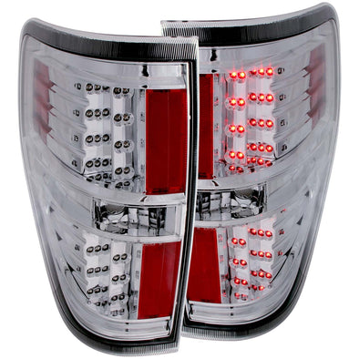Anzo 2009-2014 F150 Chrome LED Tail Light Set - 311147