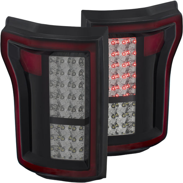 Anzo 2015-2017 F150 Smoke LED Tail Light Set - 311263