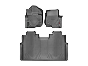 WeatherTech Front & Rear FloorLiner 2015-2018 F150 Supercrew - 44697-1-2