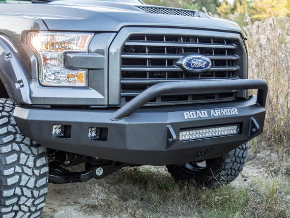 Road Armor 2015-2017 F150 Black Stealth Bumper with Pre-Runner - 615R4B-NW