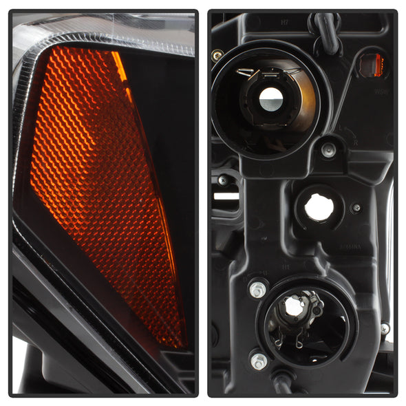 Black/Clear Projector Headlight