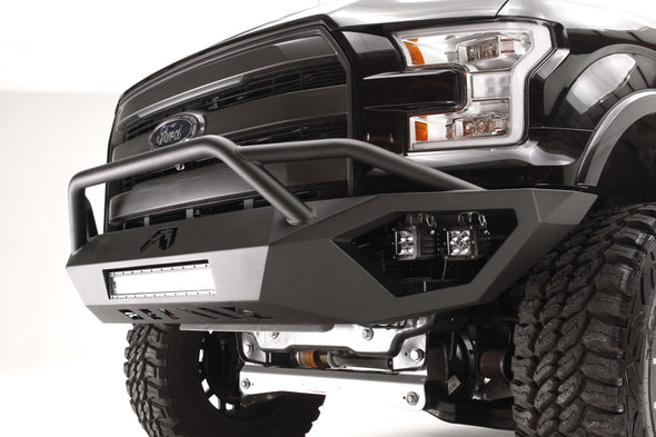Fab Fours Vengeance Front Pre-Runner Bumper - WITH GUARD - Matte Black Powder Coat FF15-D3252-1
