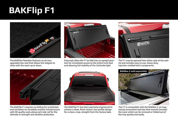 BAKFlip F1 2004-2014 Ford F-150 Hard Folding Truck Bed Cover 6.5' Bed - 772307