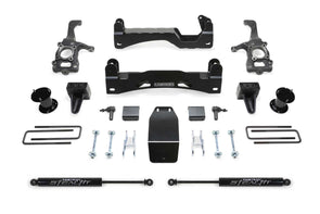 Fabtech 6 Inch Basic Lift Kit w/ Rear Stealth Shocks 2015-2018 F-150 4WD - K2194M