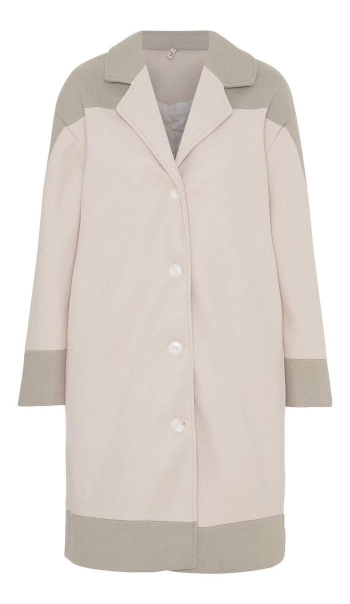 Ombré coat Off White