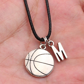 2019 New A-Z Letter Basketball Necklace