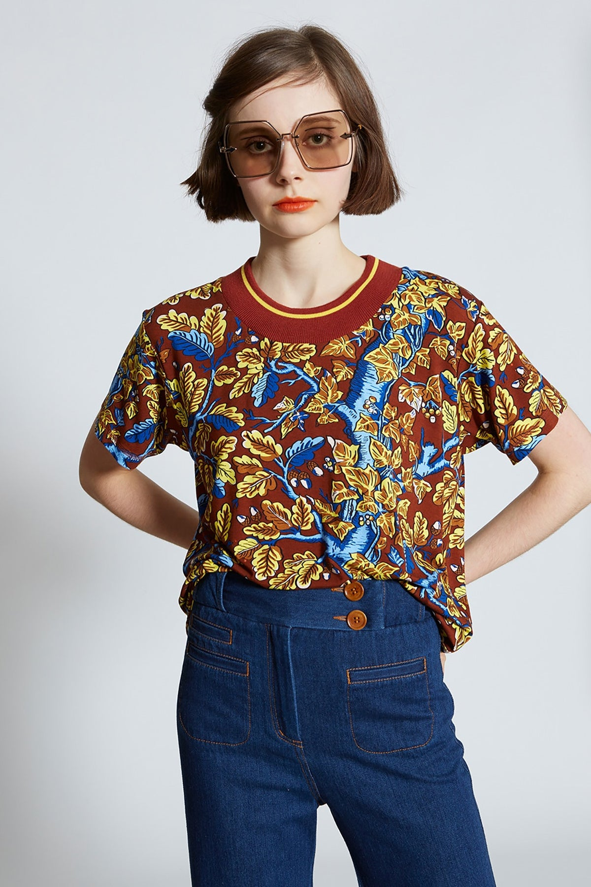 Karen Walker Sonnet Top // Burnt Sienna