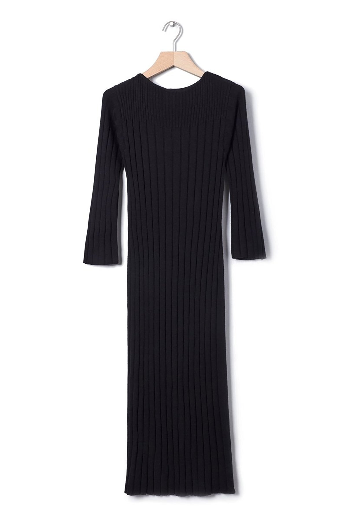 Kowtow Grace Dress Merino // Black