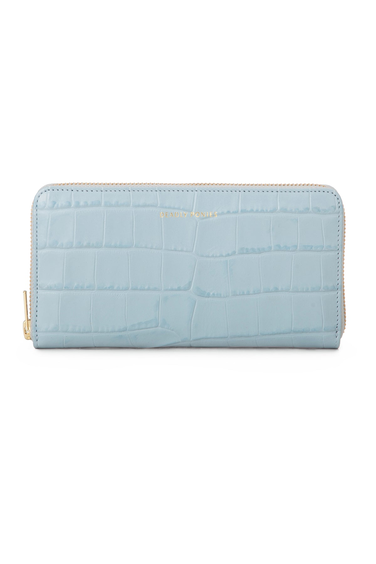 Deadly Ponies Mr Wallet Croc // Periwinkle
