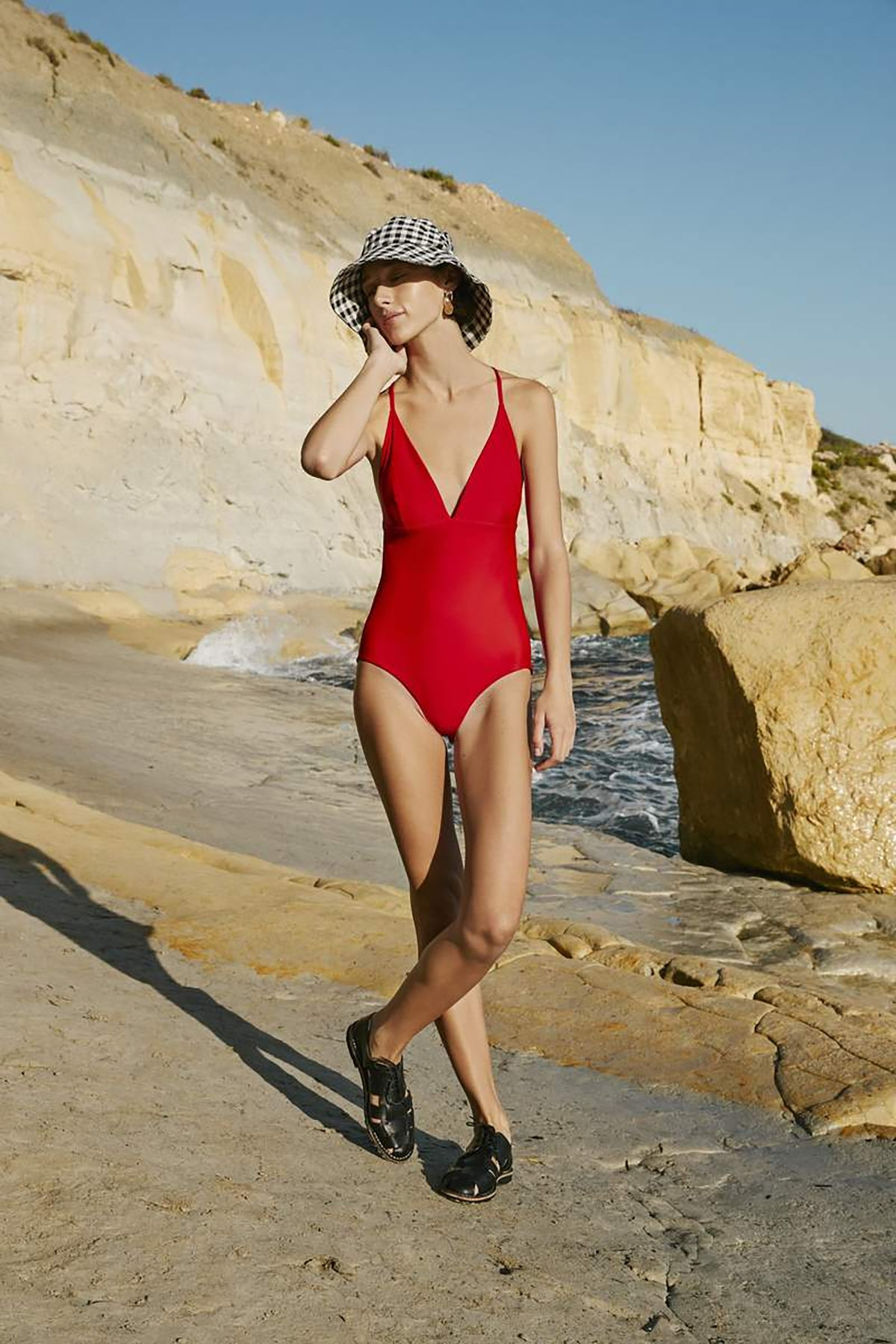 Kowtow Triangle One Piece // Red