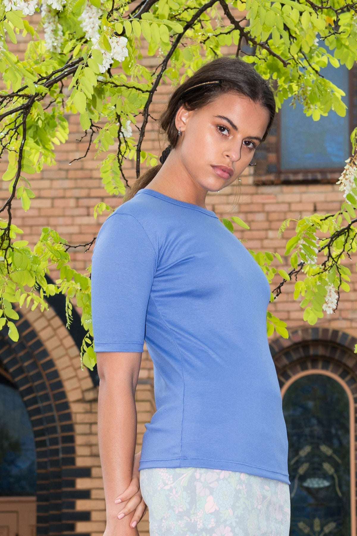 PV Luxe Layering Tee // Faded Royal Blue