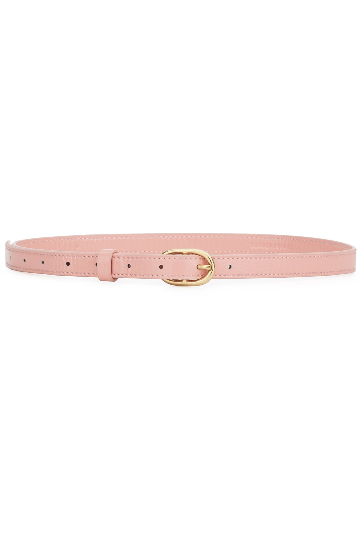 Deadly Ponies Slim Belt // Patent Blush