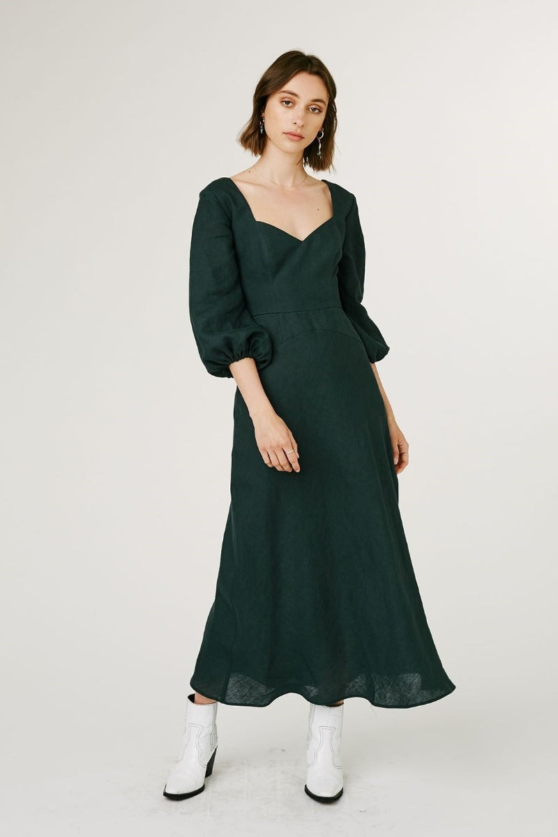 Jillian Boustred Ruby Dress // Forest Green