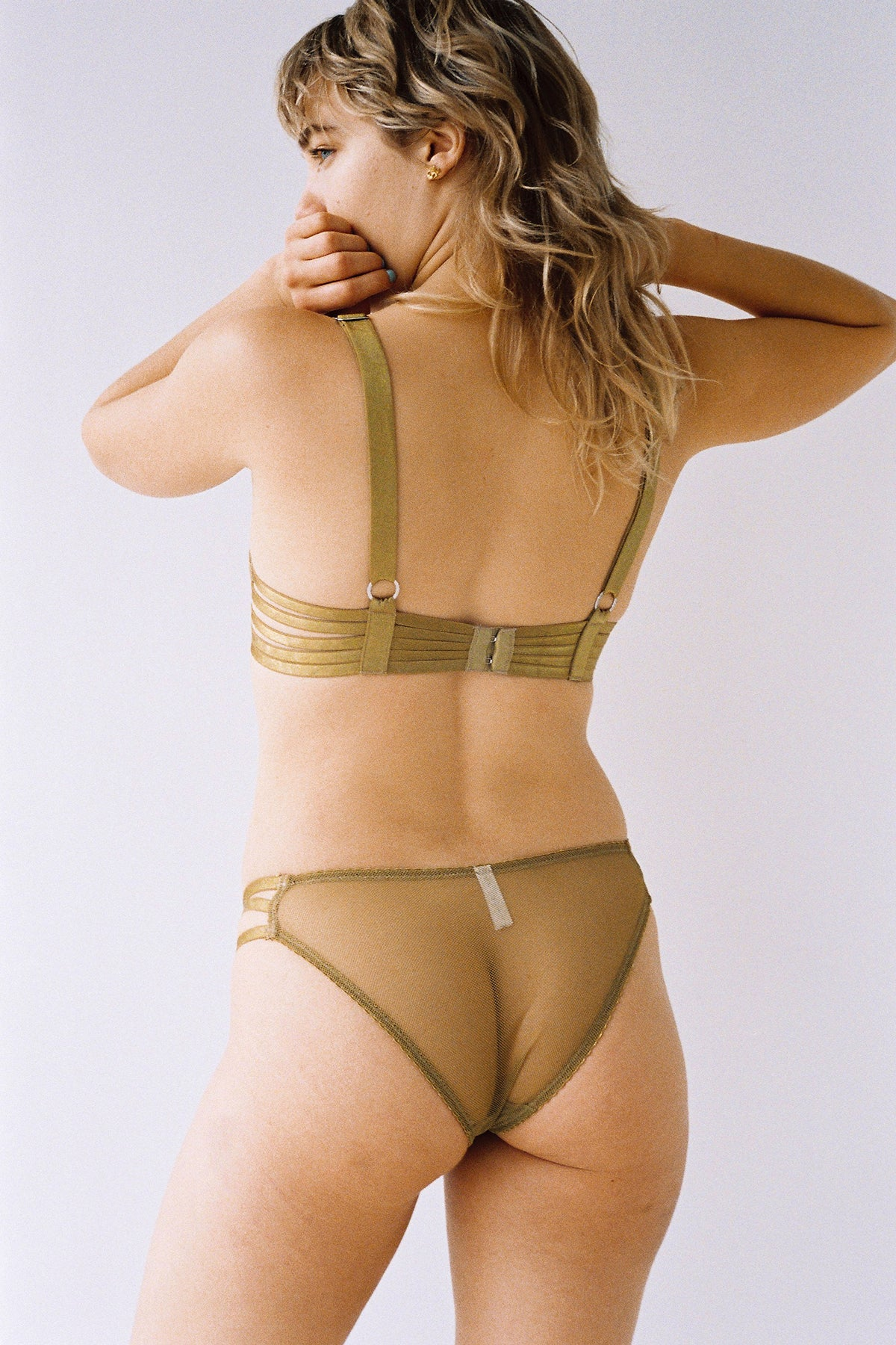 Lonely Lulu Strap Brief // Chartreuse