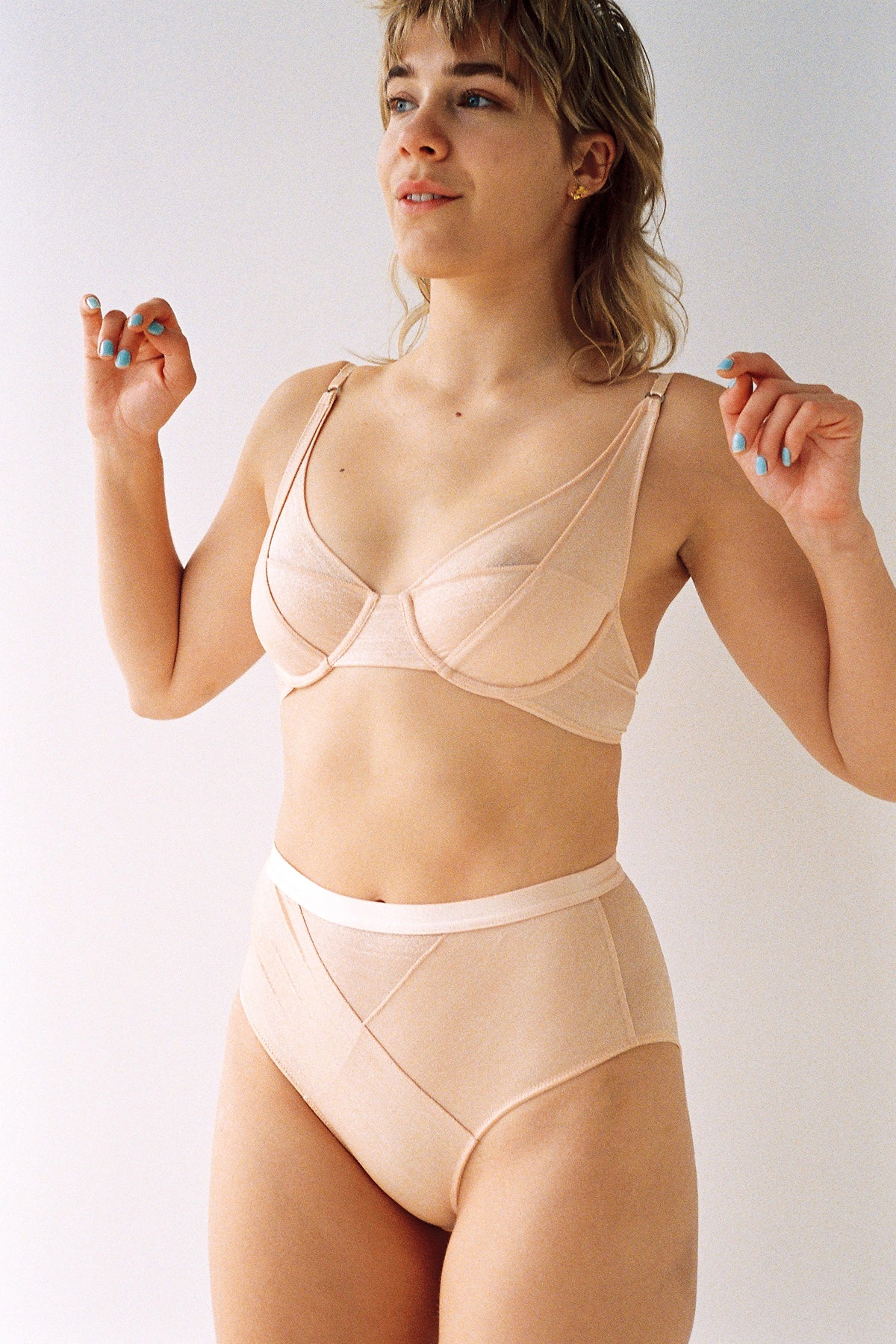 Lonely Thea High Waist Brief // Desert