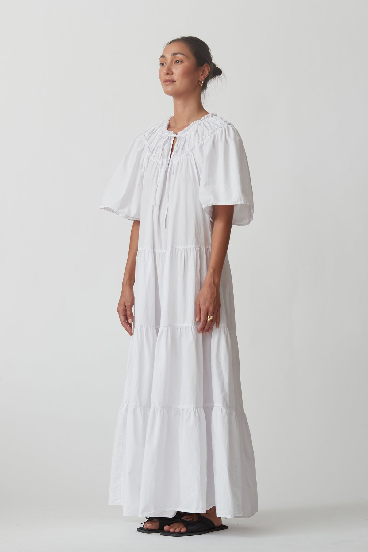Blanca Sally Dress // White