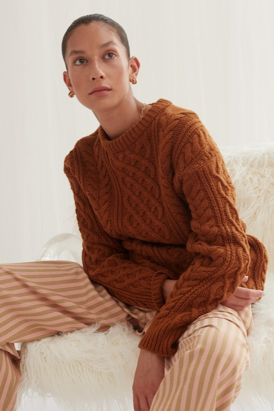 Blanca Valence Knit // Brown