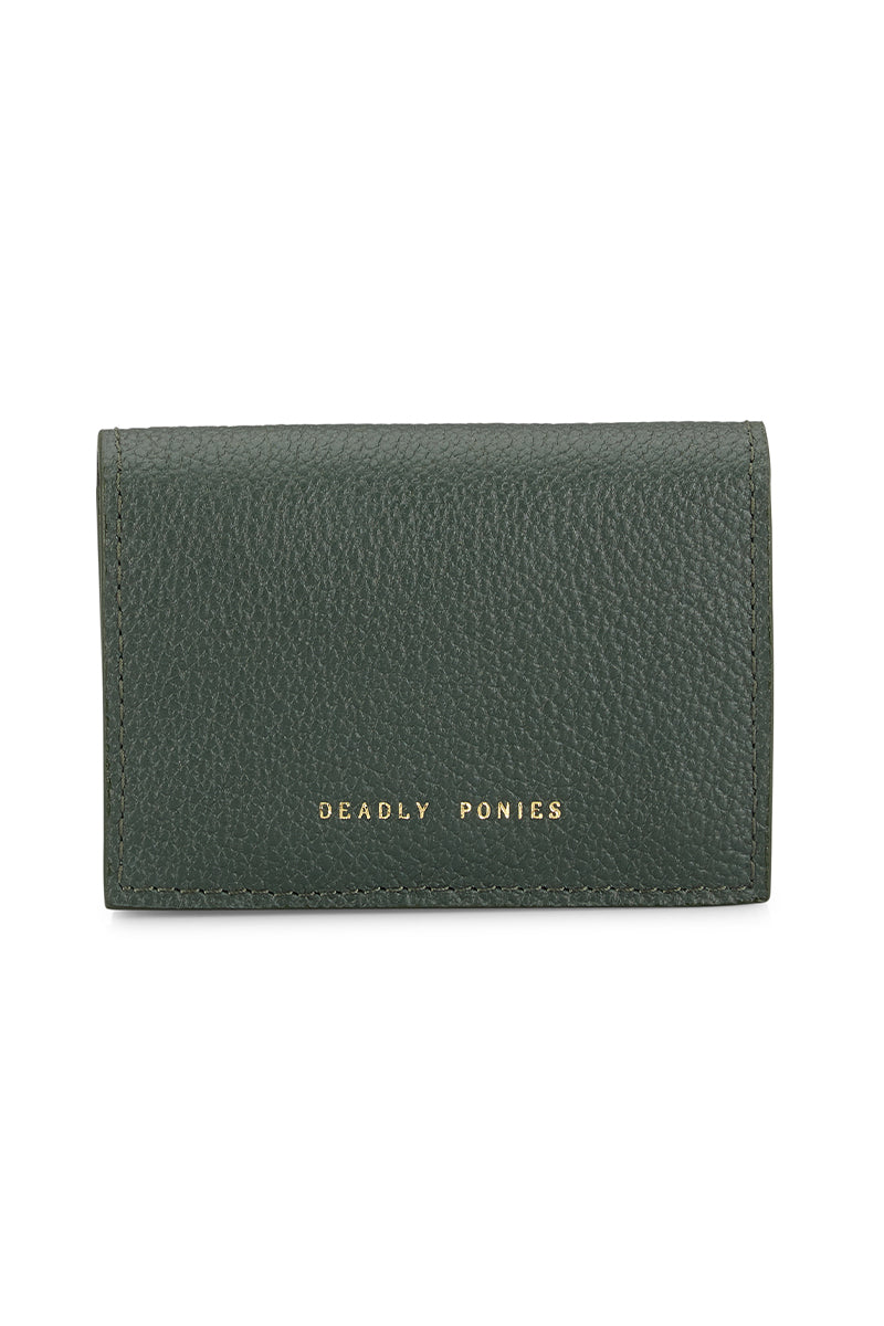 Deadly Ponies Mr Fill n Snap Wallet // Forest