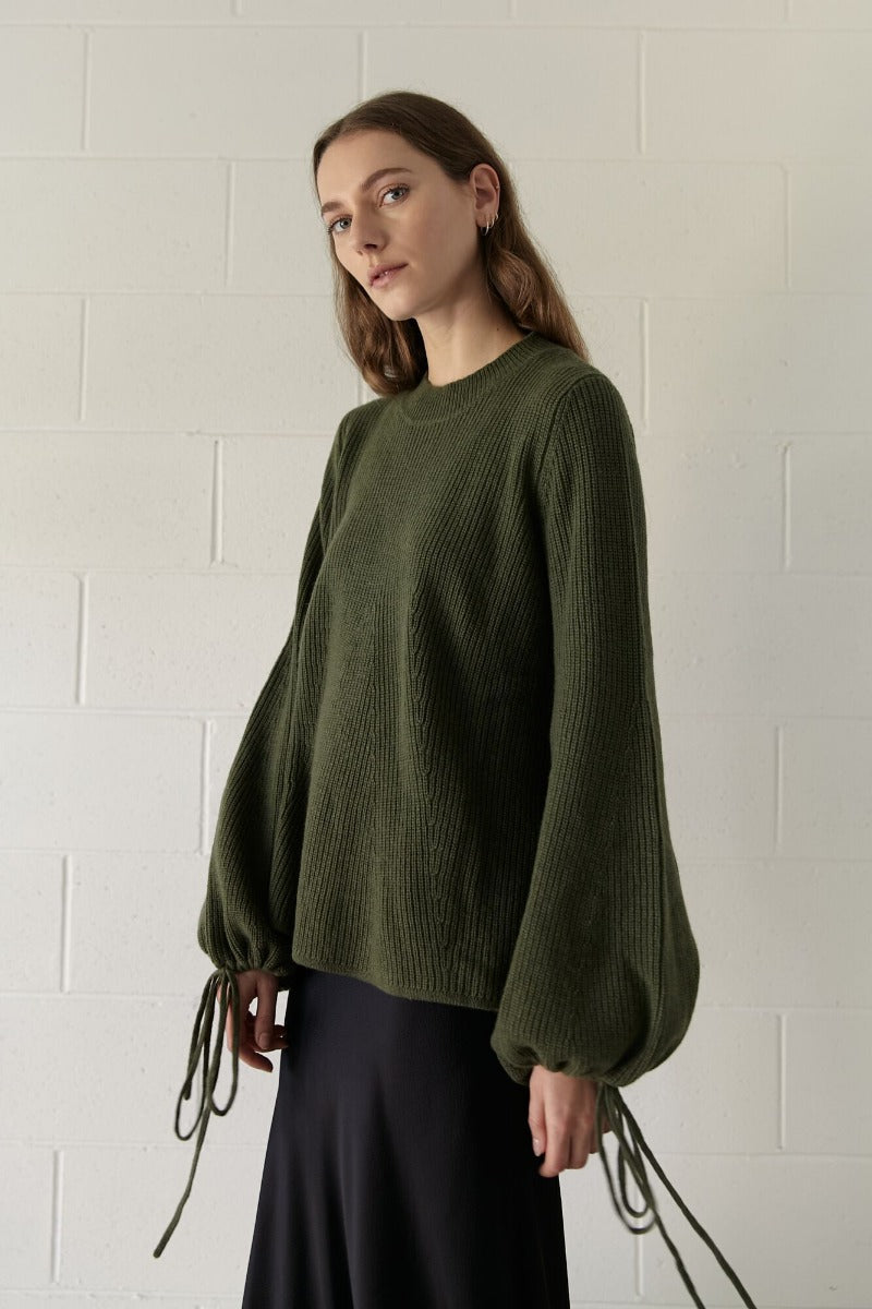 Marle Georgette Knit // Dark Sage