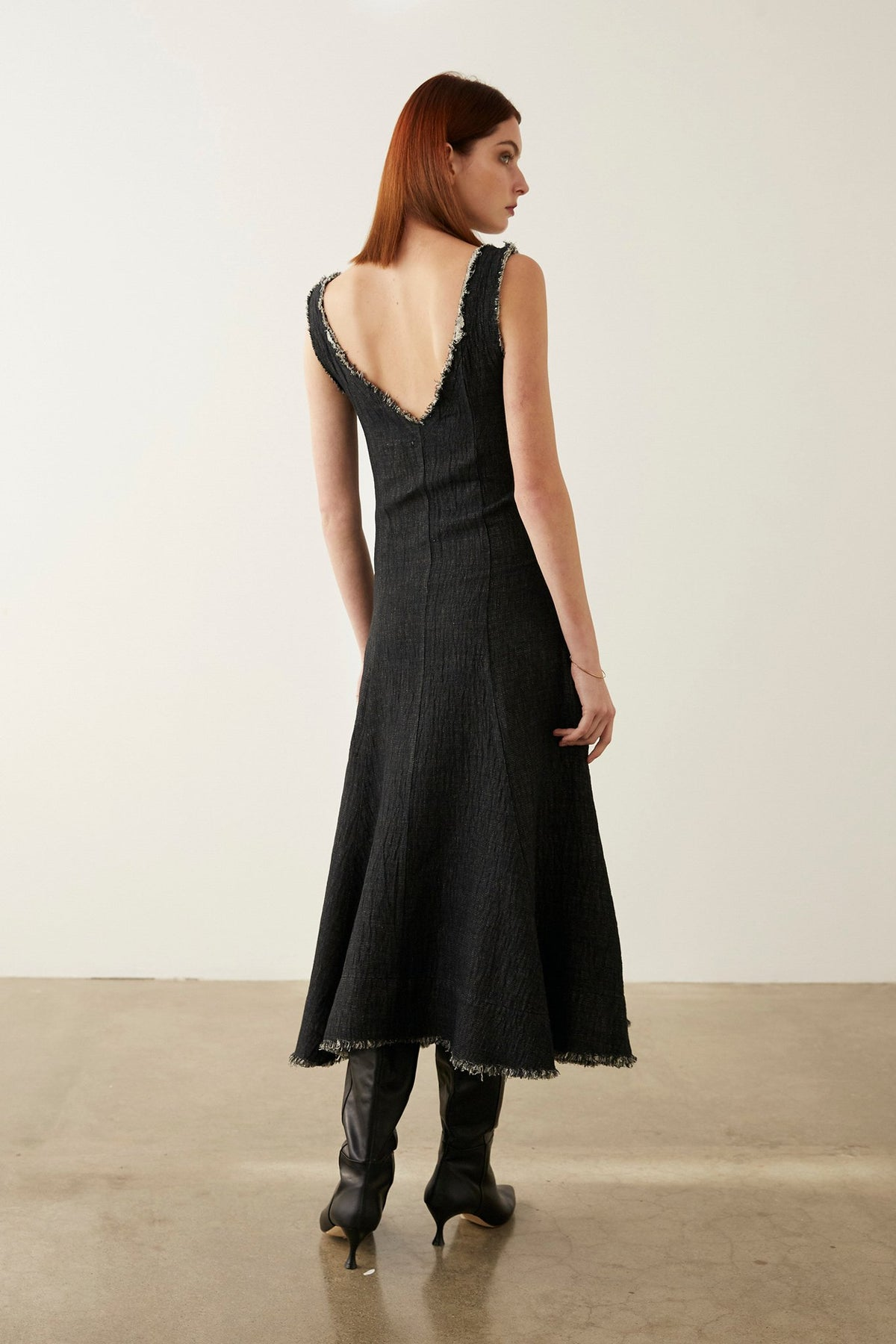 Marle Romy Dress // Textured Black