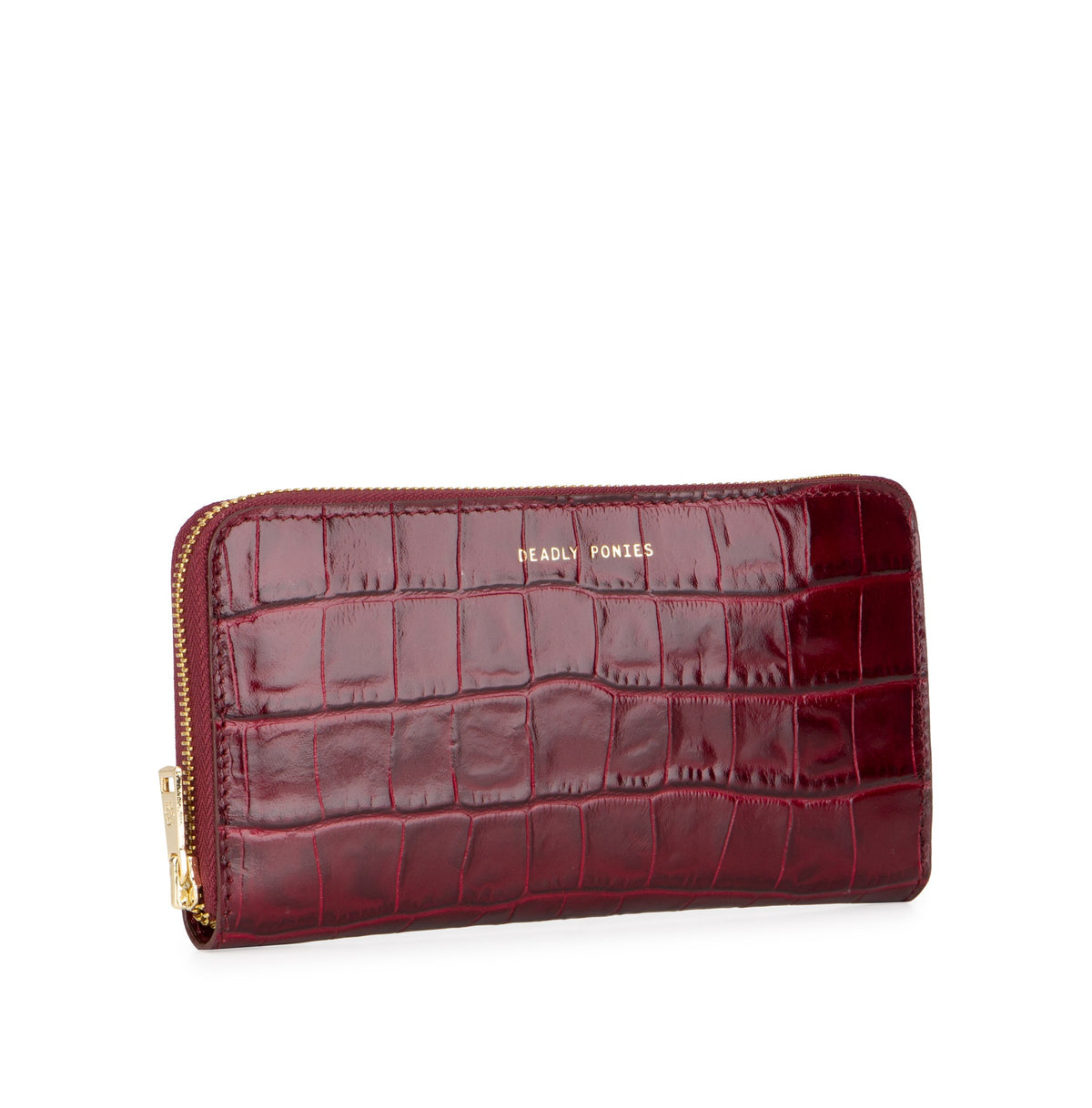 Deadly Ponies Mr Wallet Croc // Bordeaux