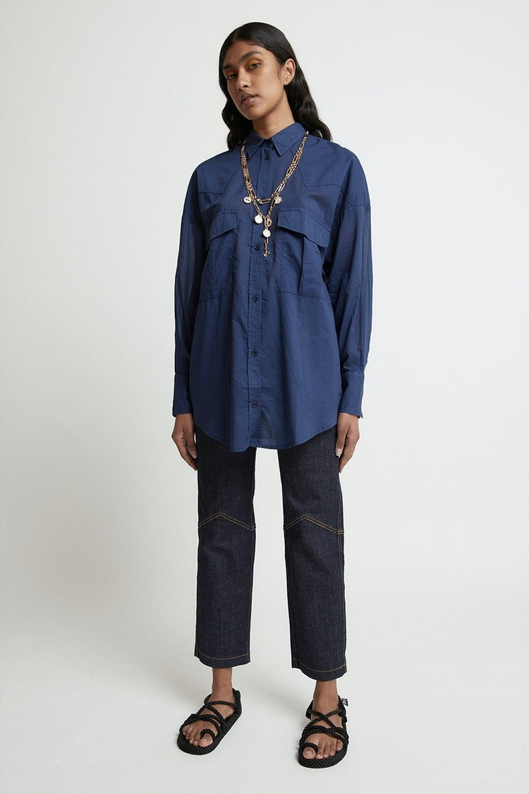 Karen Walker Gentleman Shirt // Navy