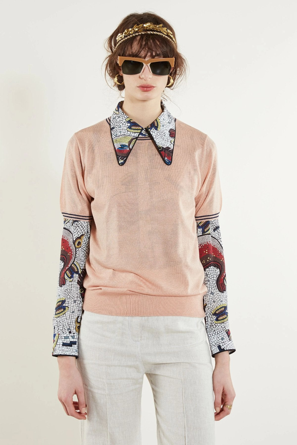 Karen Walker Apollo Knit Tee // Rose Pink