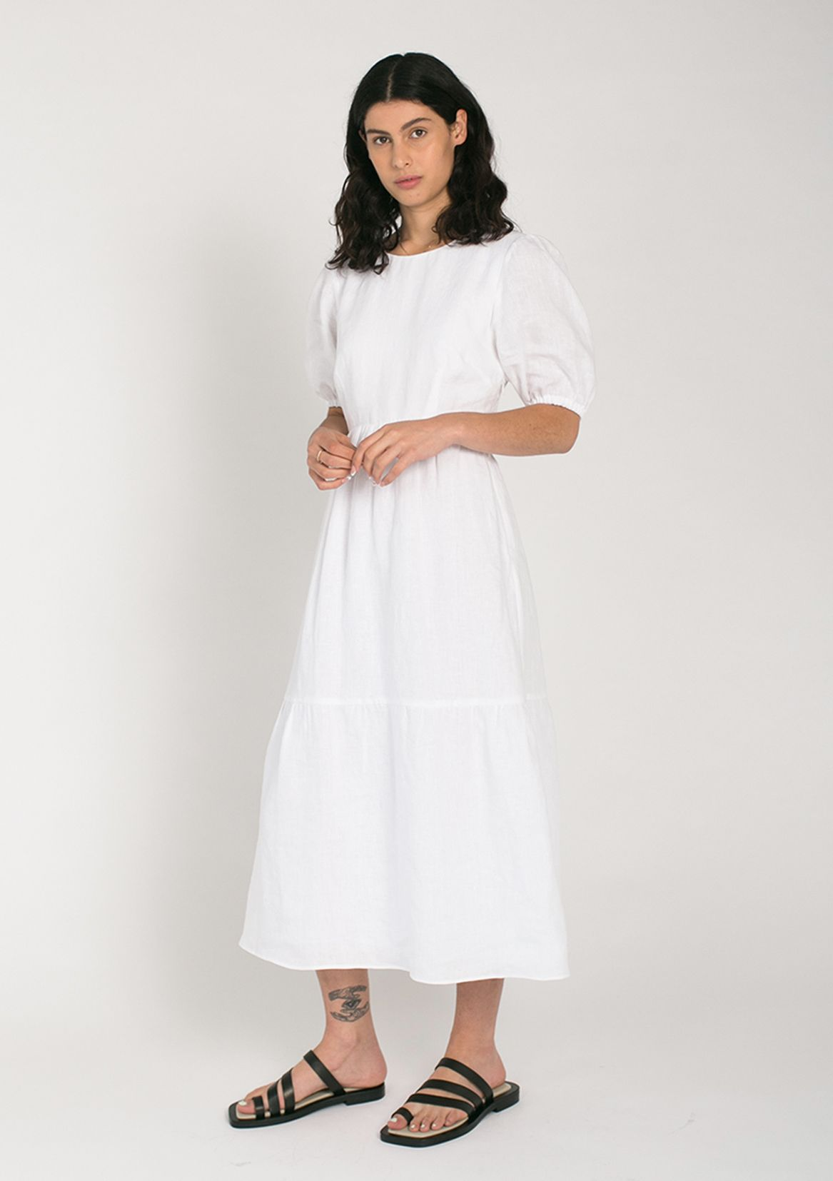 Jillian Boustred Katie Dress // White