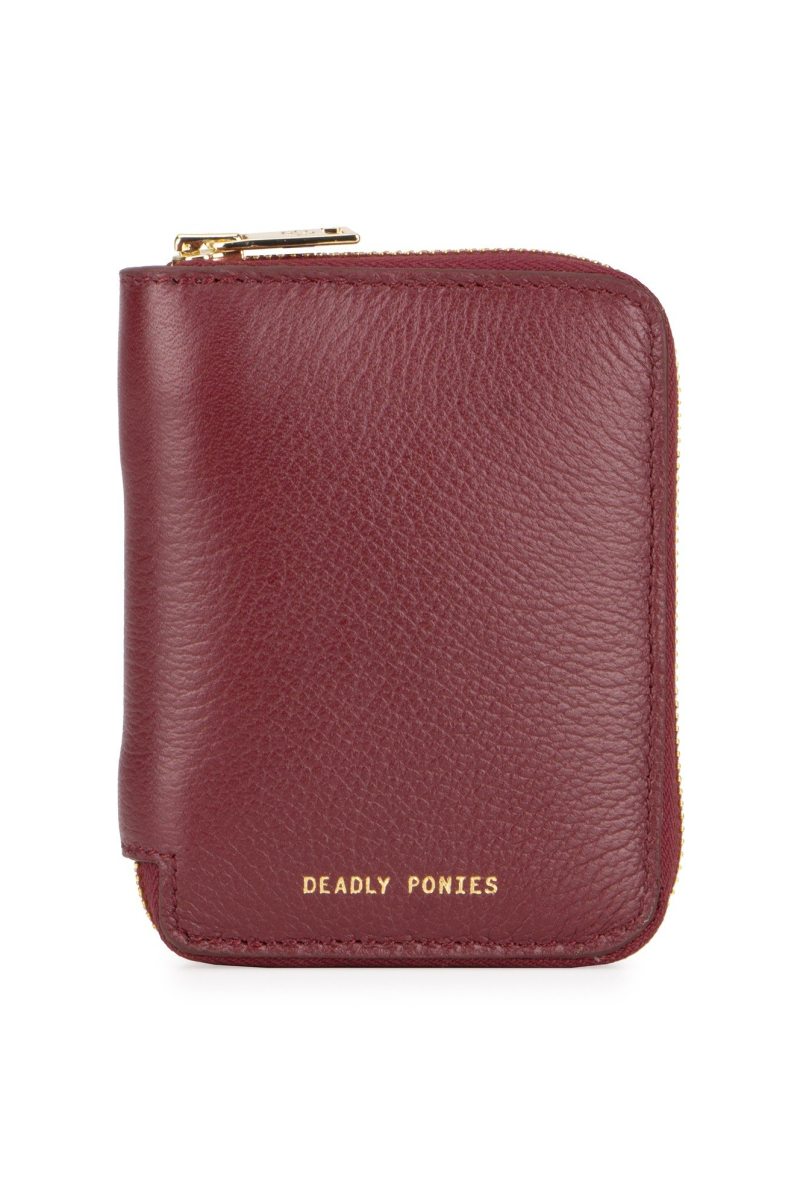 Deadly Ponies Mini Wallet // Bordeaux