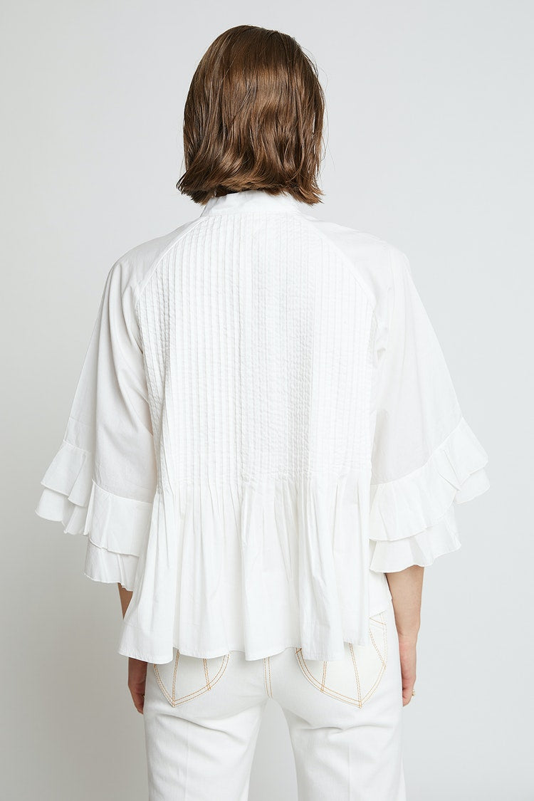 Karen Walker Pintuck Top // White