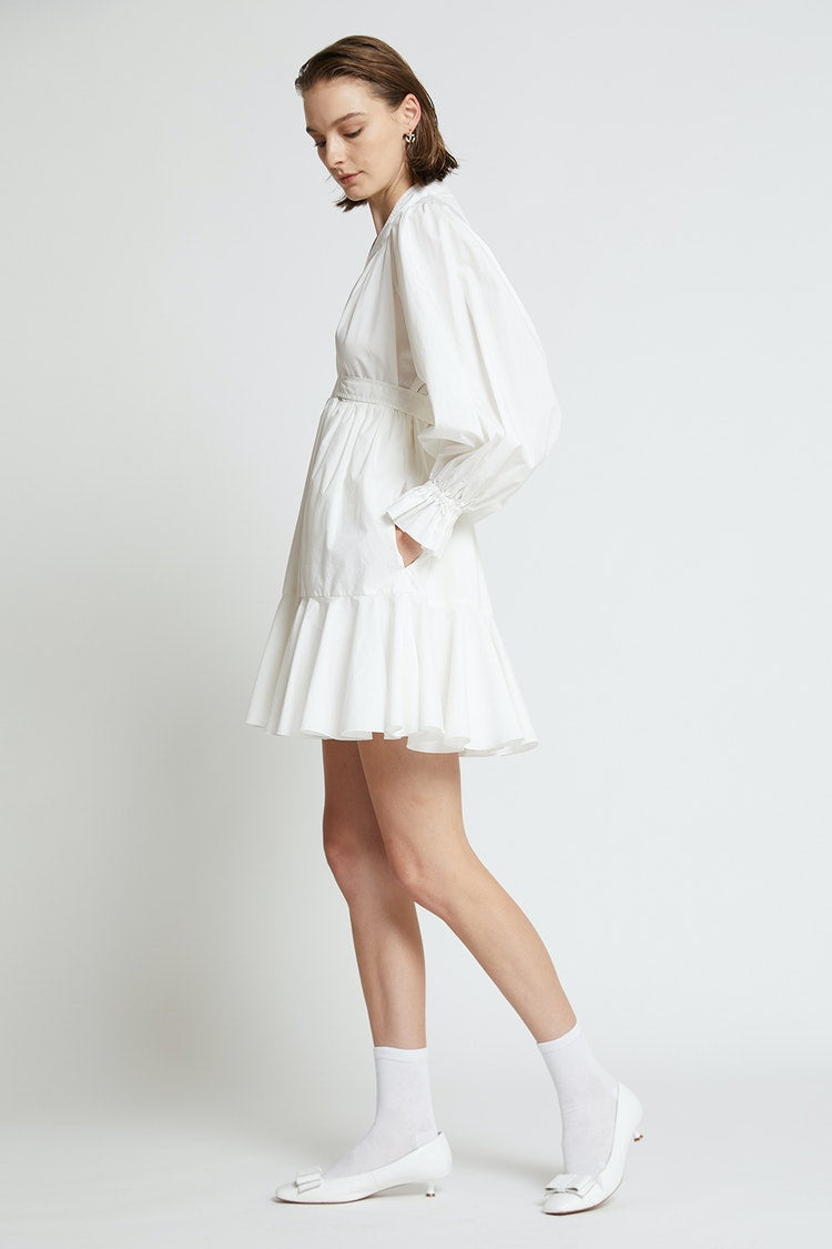 Karen Walker Tie Back Dress // White