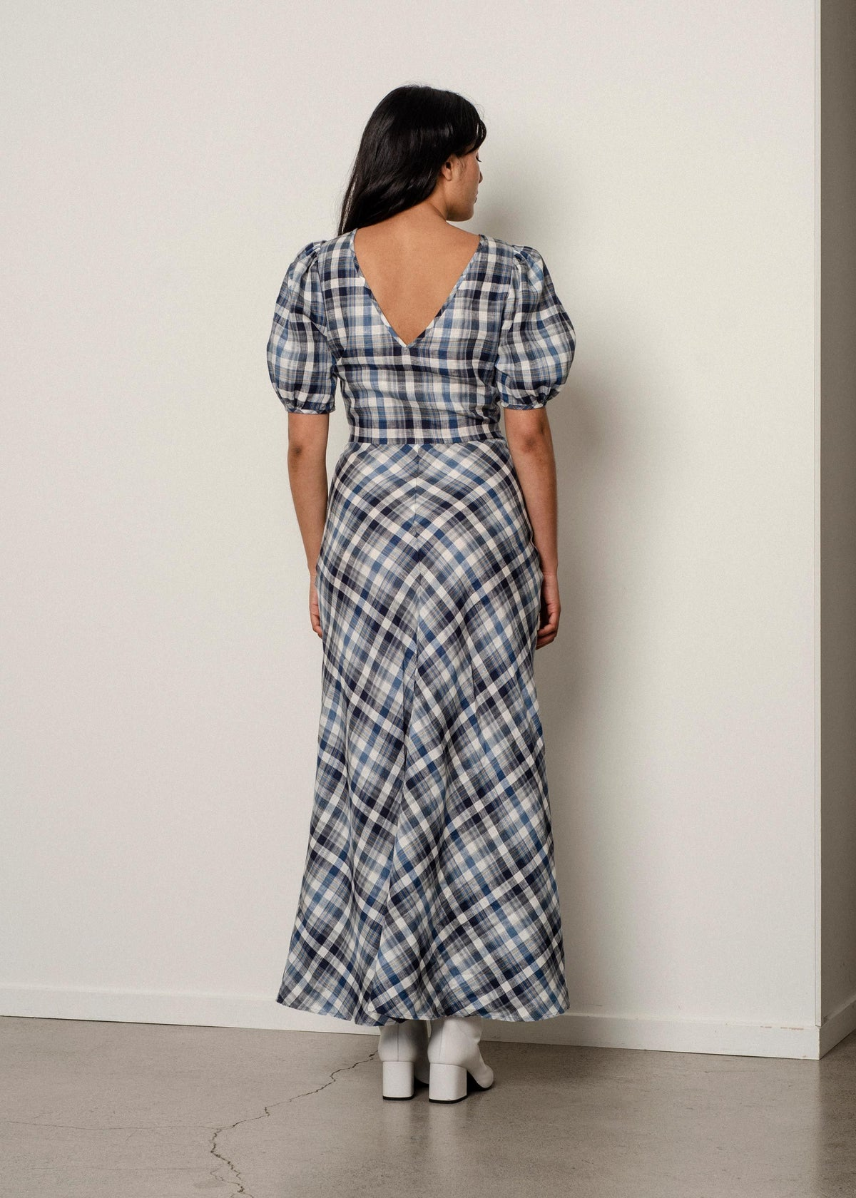 Penny Sage Marianne Dress / Tartan