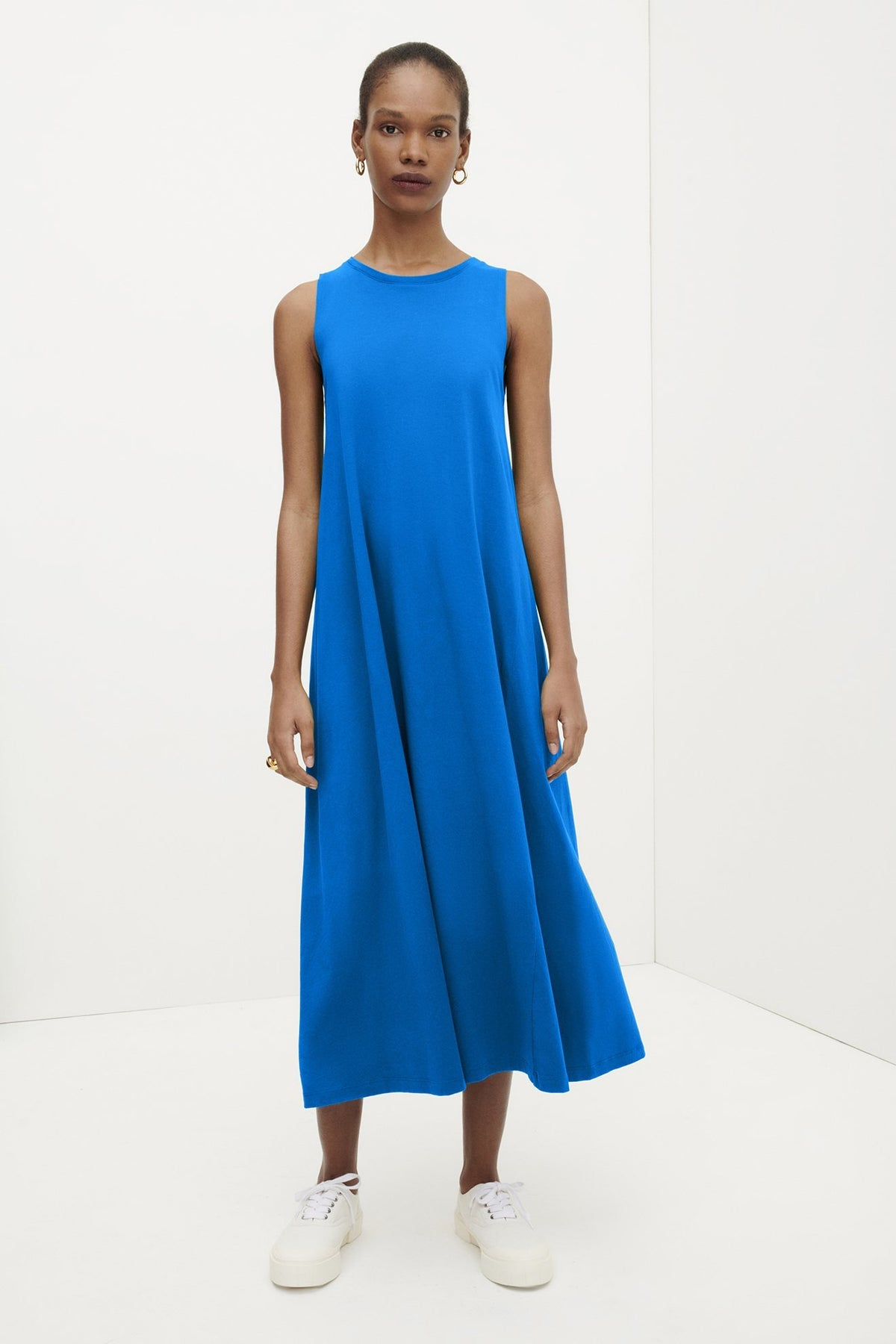 Kowtow Tank Swing Dress // Sea Blue