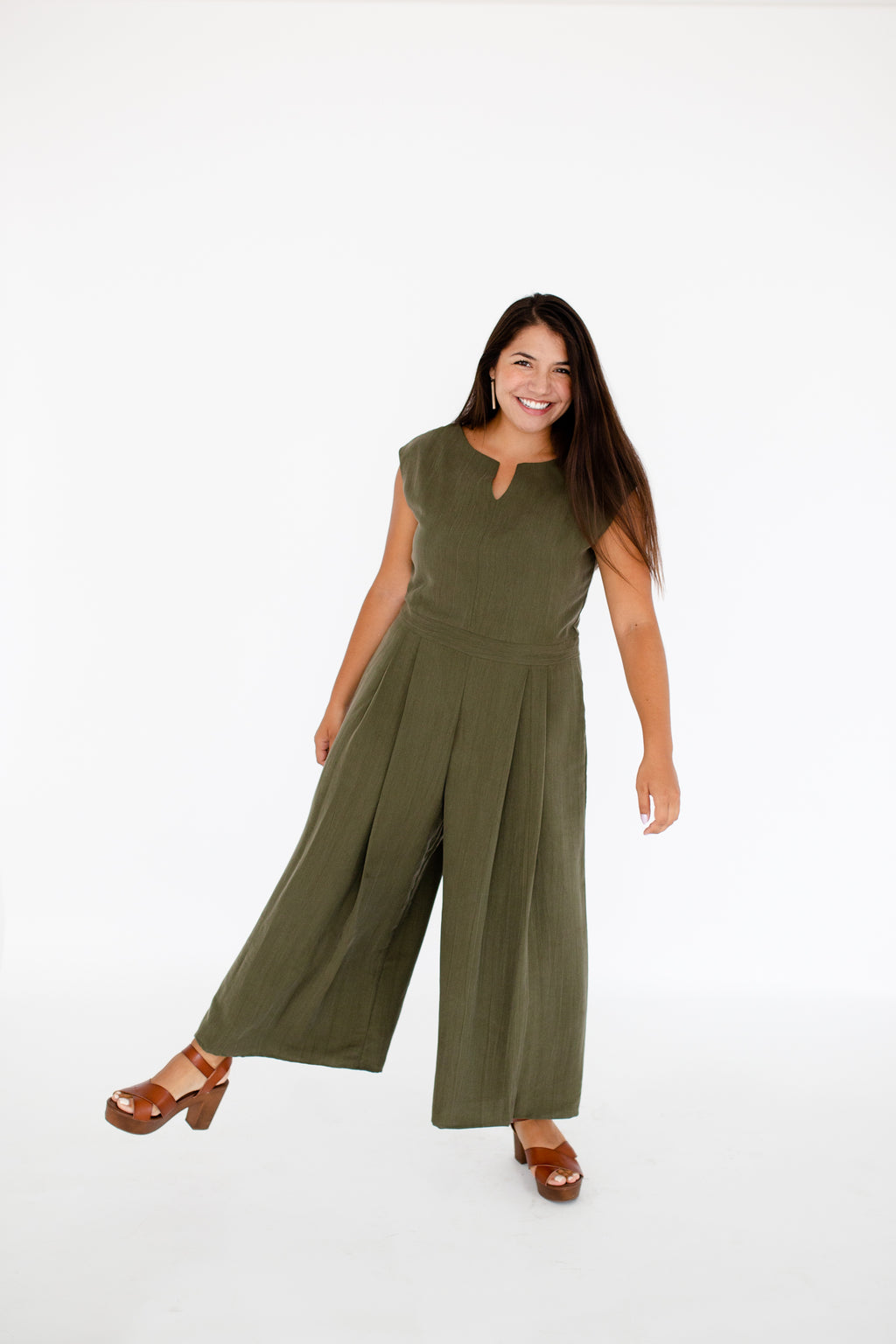 Kara Jumpsuit in Olive