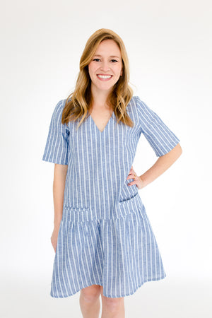 Kate Dress in Atlantic Stripe