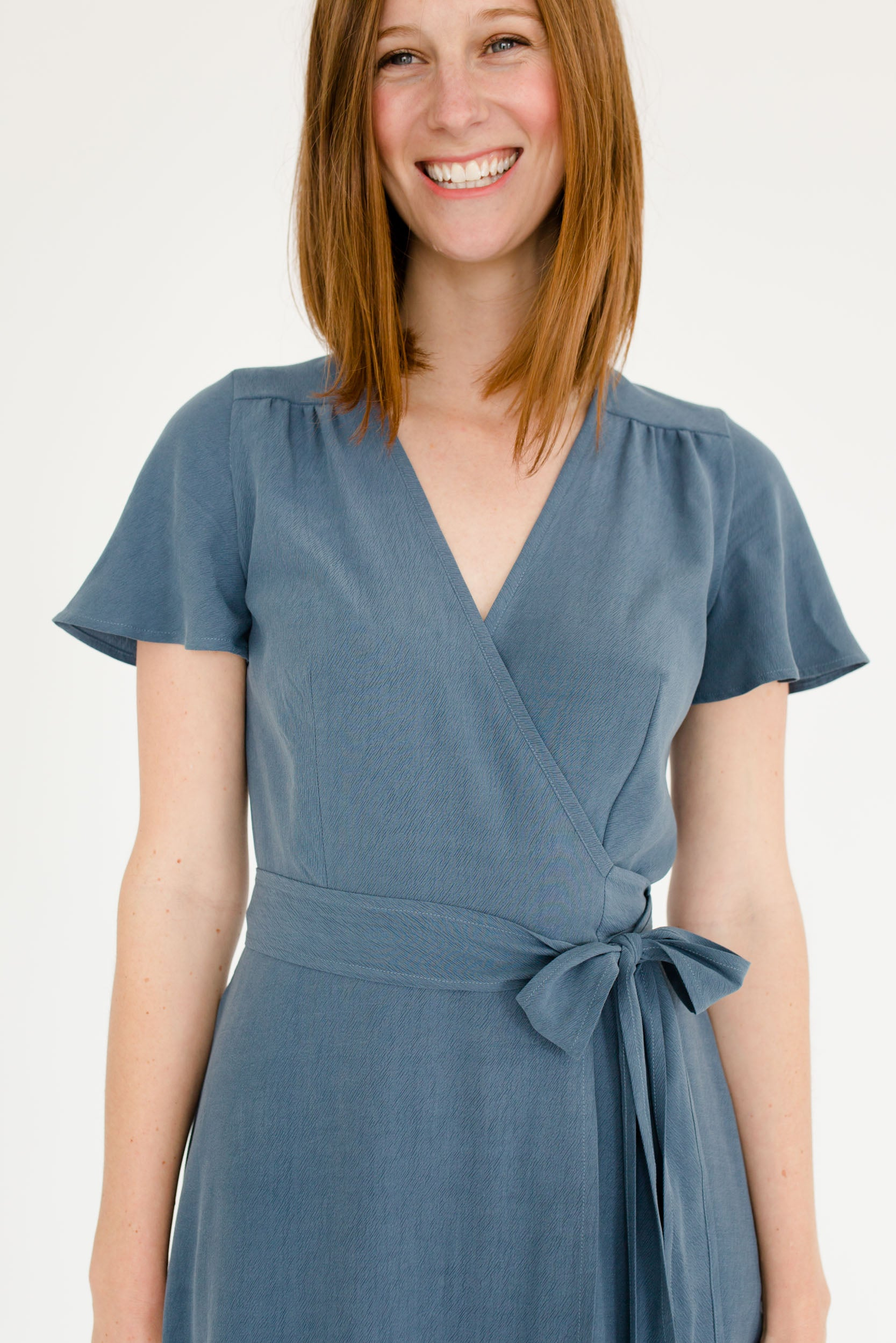 Charlotte Wrap Dress in Lagoon