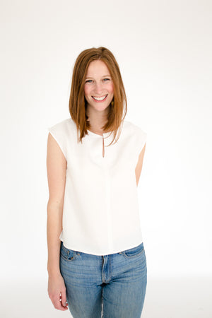 Elizabeth Box Top in White