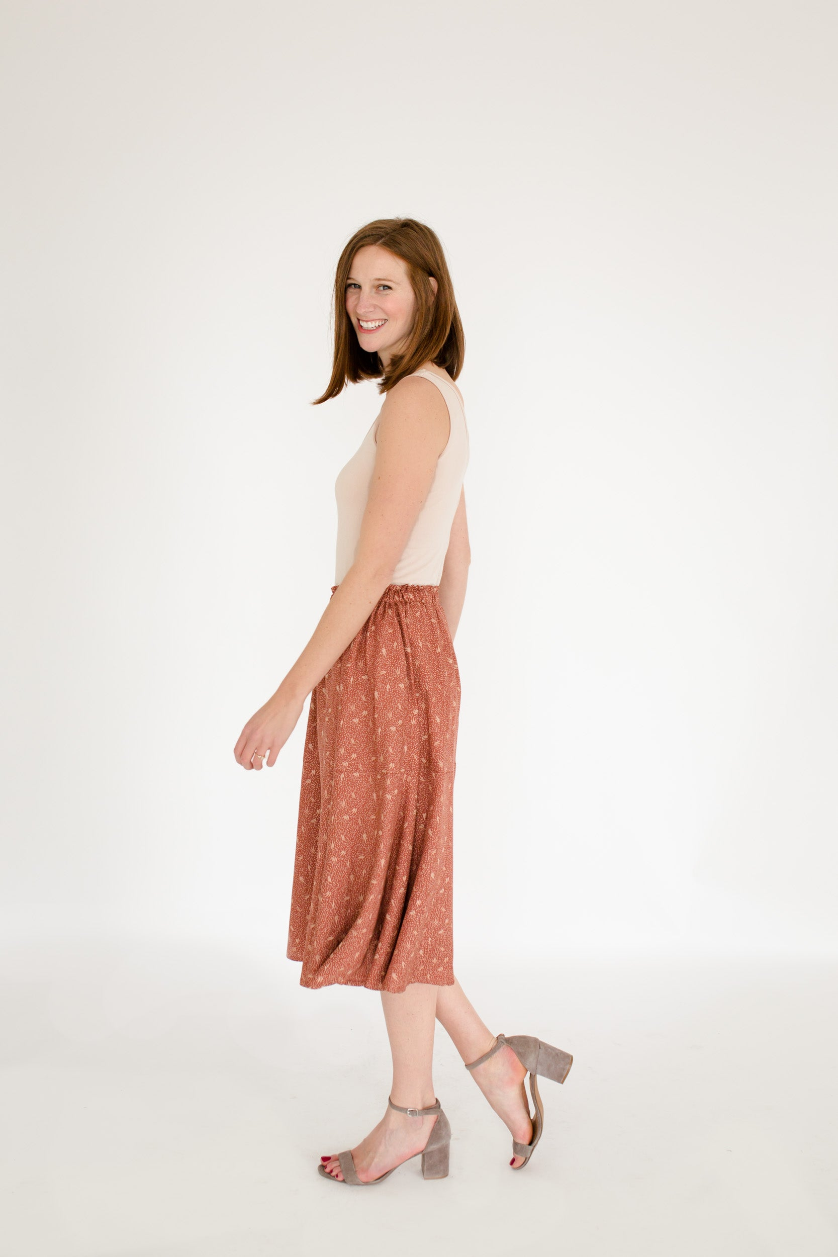 Natalie Skirt in Chestnut Dune