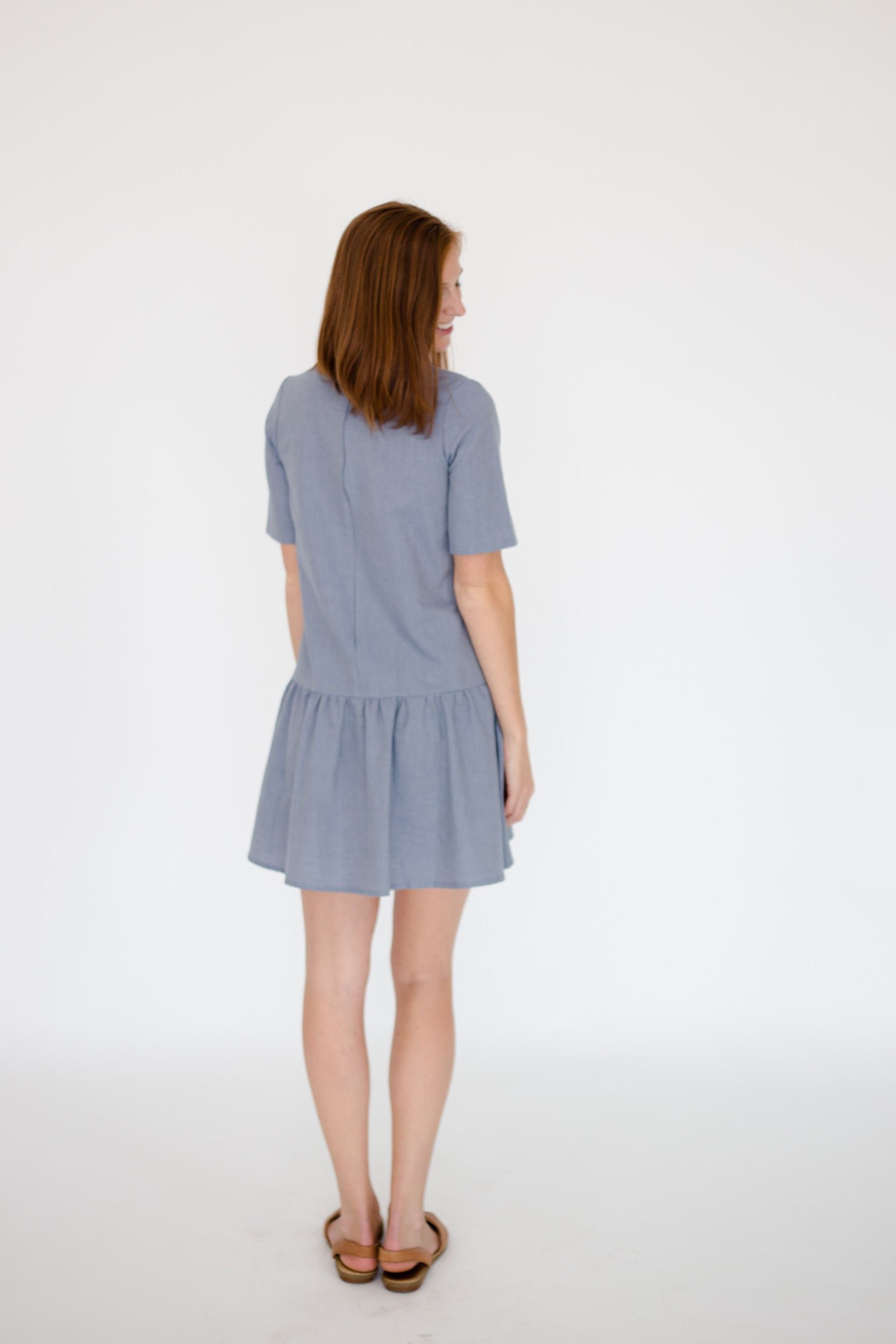 Kate Dress in Chambray