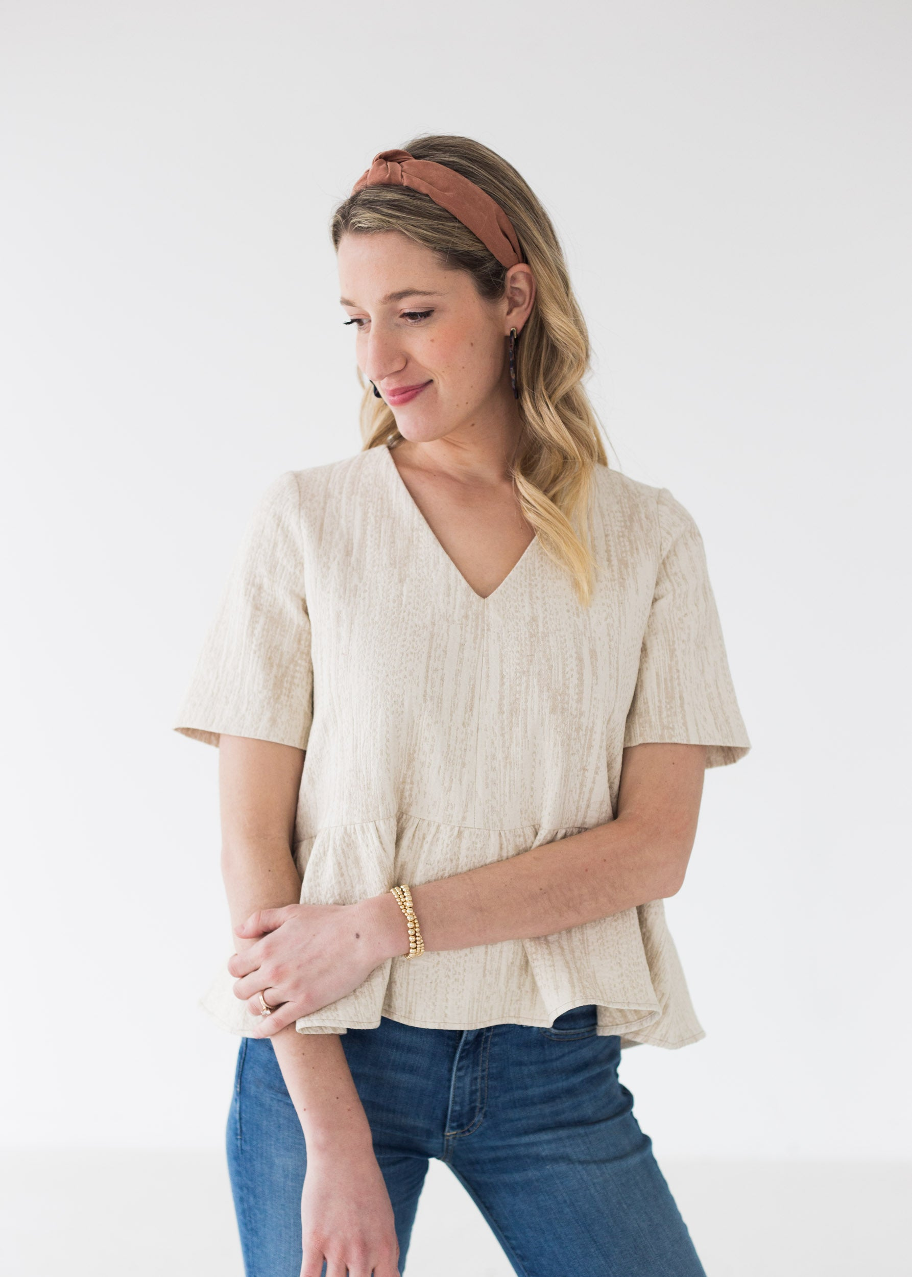 Gracie Peplum Top