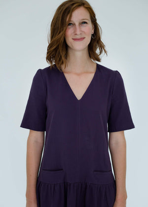 Kate Dress in Dark Violet