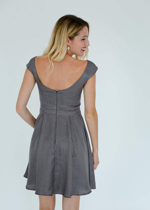 Madeline Dress in Grey