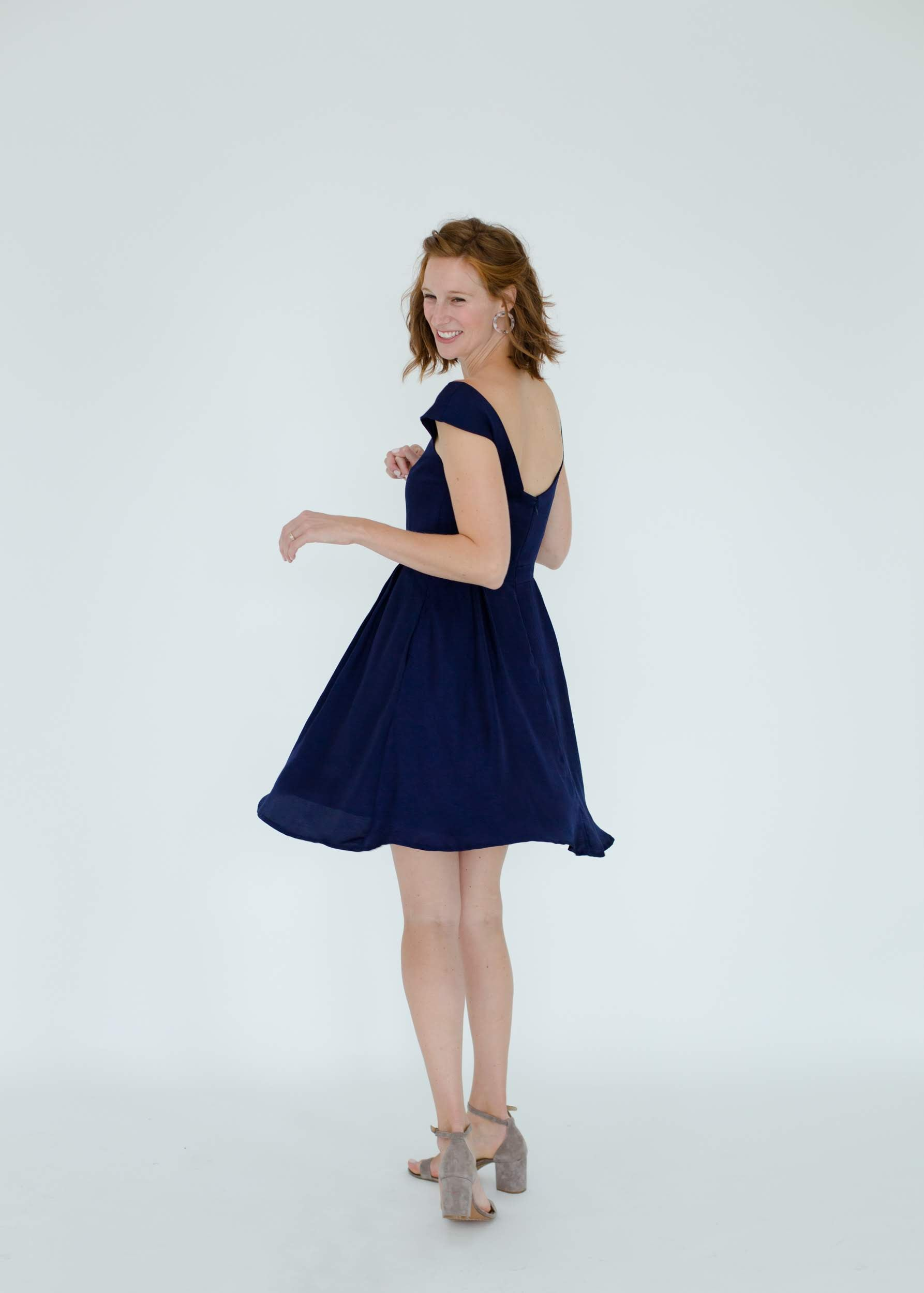 Madeline Dress in Navy