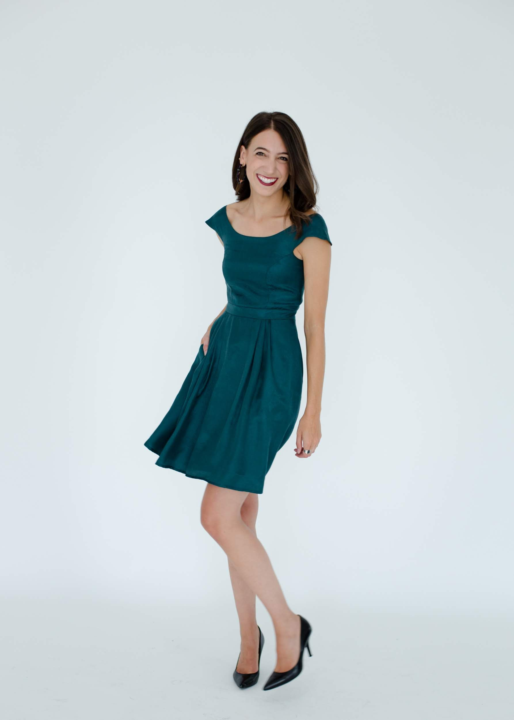 Madeline Dress in Pine
